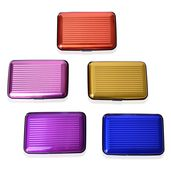 Set of 5 Multi Color RFID Blocking Card Holders (4x.5x2.75 in)