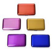 Nov Doorbuster Multi Color Set of 5 RFID Blocking Card Holder (4.13x2.75x0.59 in)