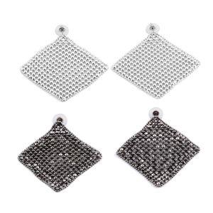 Dark Silvertone Set of 2 Earrings