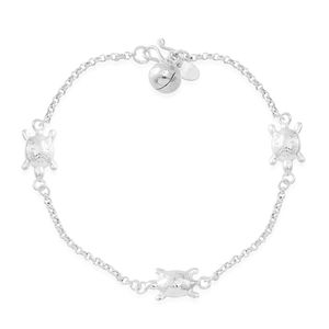 Kevin's Presidential Deal Sterling Silver Turtle Bracelet (7.50 In) (5.2 g)