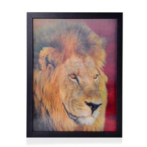 Lions 3D Painting with Photo Frame (16.7x12.7 in)