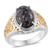 Austrian Pinolith 14K YG and Platinum Over Sterling Silver Ring (Size 7.0) TGW 6.50 cts.