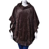Coffee Stripe Pattern 100% Polyester Poncho (31.5x39.37 in)