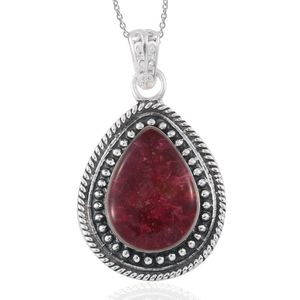 KARIS Collection - Mahenge Rose Spinel Platinum Bond Brass Pendant With Stainless Steel Chain (20 in) TGW 6.00 cts.