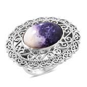 Utah Tiffany Stone Sterling Silver Ring (Size 7.0) TGW 11.95 cts.