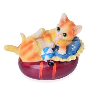 Resin Cat Decoration (Battery Not Included)