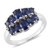 Masoala Sapphire Platinum Over Sterling Silver Ring (Size 7.0) TGW 4.24 cts.
