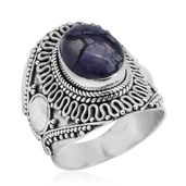 Bali Legacy Collection Utah Tiffany Stone Sterling Silver Ring (Size 8.0) TGW 5.31 cts.