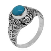Bali Legacy Collection Arizona Sleeping Beauty Turquoise Sterling Silver Ring (Size 8.0) TGW 0.67 cts.
