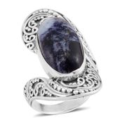 Bali Legacy Collection Utah Tiffany Stone Sterling Silver Ring (Size 6.5) TGW 7.16 cts.