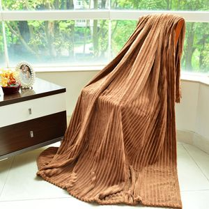 Brown 100% Polyester Cozy Faux Fur Blanket (80x62 in)