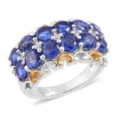 Himalayan Kyanite, White Zircon 14K YG and Platinum Over Sterling Silver Ring (Size 6.0) TGW 4.51 cts.