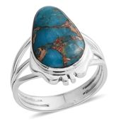 Santa Fe Style Mojave Blue Turquoise Sterling Silver Ring (Size 7.0) TGW 1.50 cts.