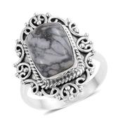 Artisan Crafted Austrian Pinolith Sterling Silver Ring (Size 5.0) TGW 7.89 cts.