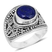 Bali Legacy Collection Lapis Lazuli Sterling Silver Ring (Size 9.0) TGW 4.65 cts.