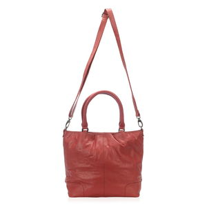 Red Genuine Leather RFID Sling Bag