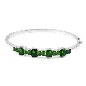 Russian Diopside Sterling Silver Bangle (7.25 in) TGW 6.60 cts.
