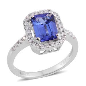 ILIANA 18K WG Premium AAA Tanzanite, Diamond Ring (Size 7.0) TDiaWt 0.22 cts, TGW 1.80 cts.