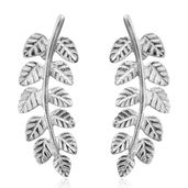 Artisan Crafted Sterling Silver Leaf Earrings (2.3 g)