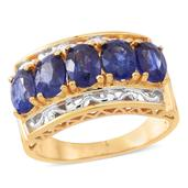 Masoala Sapphire 14K YG Over and Sterling Silver Ring (Size 7.0) TGW 5.50 cts.