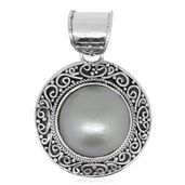 Bali Legacy Collection Mabe Pearl - White Sterling Silver Pendant without Chain