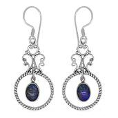 Bali Legacy Collection Australian Boulder Opal Sterling Silver Earrings TGW 1.74 cts.