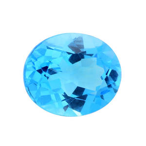 Electric Swiss Blue Topaz (Ovl 12x10 mm) TGW 5.00 cts.