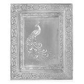 Oxidized Picture Frame with Peacock Embossed (11x9 in)