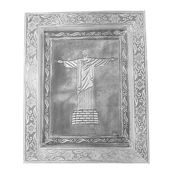 Oxidized Picture Frame with Christ The Redeemer Brazil Embossed (11x9 in)