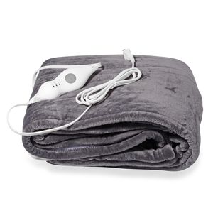 TLV Gray Electric Heated Micro Plush Flannel Sherpa Throw  Blanket (50x60 in)