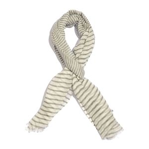 Black and White Stripe Pattern 100% Merino Wool Scarf (70x27 in)