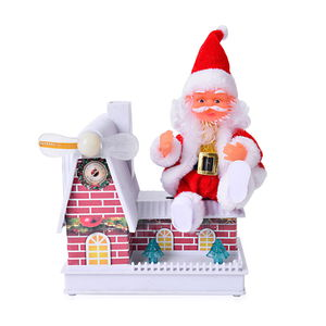 Lifestyle TLV Special Singing Electric Sitting Santa Claus Fan Toy(6.29x13.38 in) (3xAA Batteries Not Included)