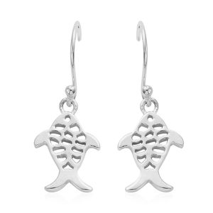 Artisan Crafted Sterling Silver Fish Earrings (3.07 g)