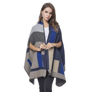 Navy, Blue and Gray Abstract Pattern Cozy Wrap Throw