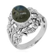 Bali Legacy Collection Malagasy Labradorite Sterling Silver Ring (Size 6.0) TGW 4.01 cts.