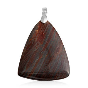 Gem Workshop Red Jasper Pendant without Chain TGW 97.50 cts.