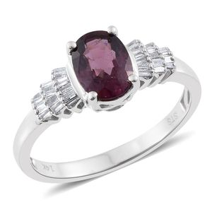 14K WG Burmese Red Spinel, Diamond Ring (Size 9.0) TDiaWt 0.20 cts, TGW 1.60 cts.