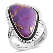 Santa Fe Style Mojave Purple Turquoise Sterling Silver Ring (Size 6.0) TGW 3.75 cts.