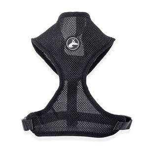 Black Adjustable Pet Harness (S/M) (Neck 17in x Chest 17-23in)