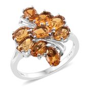 Serra Gaucha Citrine Platinum Over Sterling Silver Ring (Size 5.0) TGW 3.86 cts.
