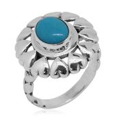 Bali Legacy Collection Arizona Sleeping Beauty Turquoise Sterling Silver Ring (Size 7.0) TGW 1.49 cts.
