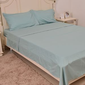 Mint Microfiber Sheet Set (King) and Set of 2 Pillow Cases (20x30 in)