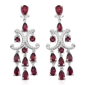 Morro Redondo Pink Tourmaline Platinum Over Sterling Silver Chandelier Earrings TGW 4.49 cts.