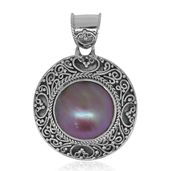 Bali Legacy Collection Mabe Pink Pearl Sterling Silver Pendant without Chain
