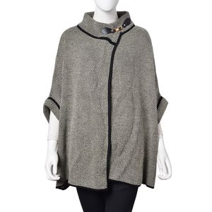 Charcoal Gray 100% Acrylic Runway Cape (27.55x31.49 in)