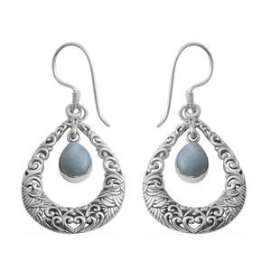 Larimar Sterling Silver Earrings TGW 2.77 cts.