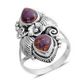 Bali Legacy Collection Mojave Purple Turquoise Sterling Silver Ring (Size 10.0) TGW 3.20 cts.