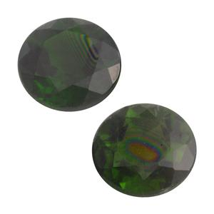 Russian Diopside Set of 2 (Rnd 6 mm) T.GW 1.66 cts. TGW 2.01 cts.