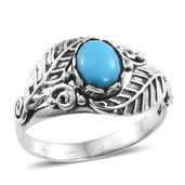 Arizona Sleeping Beauty Turquoise Sterling Silver Ring (Size 10.0) TGW 1.00 cts.