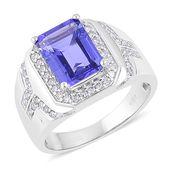 ILIANA 18K WG Premium AAA Tanzanite, Diamond Ring (Size 10.0) TDiaWt 0.57 cts, TGW 5.32 cts.